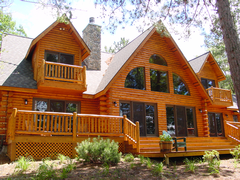 Front left elevation summer - Small log houses dream vacations wild ...